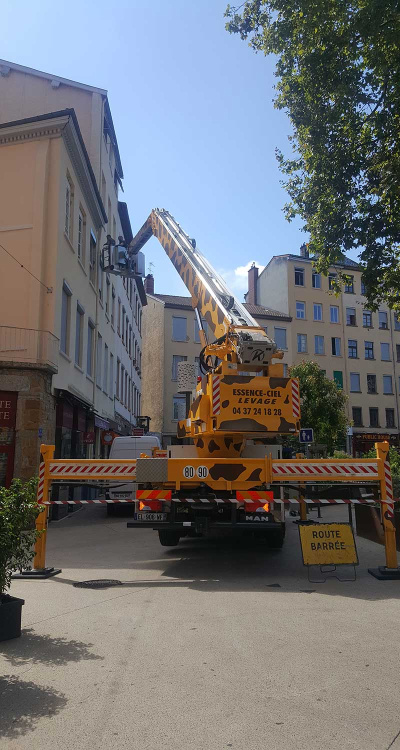 Location de nacelle à Lyon - Photo du Camion Girafe 30